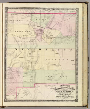 New Mexico Cram Atlas Company 1875