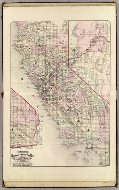 Cram's Rail Road & Township Map of California. Published by Geo. F. Cram. Proprietor of the Western Map Depot. 66, Lake St. Chicago Ills. 1875.
