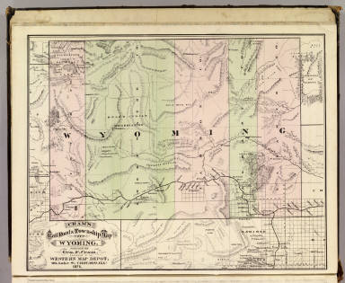 Cram's Rail Road & Township Map of Wyoming. Published by Geo. F. Cram. Proprietor of the Western Map Depot. 66, Lake St. Chicago Ills. 1875.