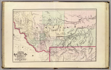 Cram's Rail Road & Township Map of Montana. Published by Geo. F. Cram. Proprietor of the Western Map Depot. 66, Lake St. Chicago Ills. 1875.
