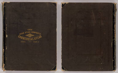 Cover: New commercial atlas, United States and Territories. / Cram Atlas Company / 1875