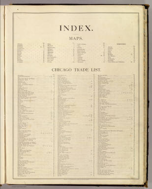 Index: New commercial atlas of the United States and Territories. / Cram Atlas Company / 1875