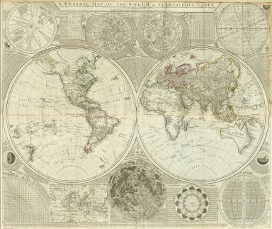 Composite: World or terraqueous globe. / Dunn, Samuel / 1787