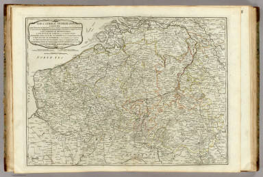 The Catholic Netherlands, comprehending: 1. The Dutchy of Brabant, divided into Austrian and Dutch Brabant .... 2. The Lordship of Mecheln, to Austria. 3. The Dutchy of Limburg, divided into Austrian and Dutch. 4. Gelderland, or Dutchy of Gelders, divided into Austrian, Prussian and Dutch. 5. The Dutchy of Luxemburg, of which the French possess a small share. 6. The County of Flanders belonging to the Austrian, French and Dutch. 7. Namurois or County of Namur to Austria and a small part to France. 8. County of Haynaut divided between France and Austria. 9. County of Artois, and 10. Cambresis to France. London, printed for Robert Sayer, no. 53 Fleet Street as the Act directs, July 10, 1788.
