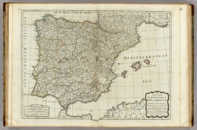 A new map of the Kingdoms of Spain and Portugal. / Kitchin, Thomas / 1790