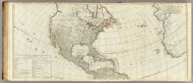 (A new map of the whole continent of America. northern section) / Sayer, Robert / 1786