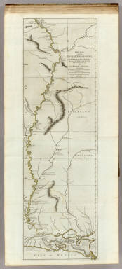 Course of the River Mississipi, from the Balise to Fort Chartres, taken on an expedition to the Illinois, in the latter end of the year 1765. By Lieut. (John) Ross of the 34th Regiment: Improved from the surveys of the river made by the French. London, printed for Robt. Sayer, no. 53 in Fleet Street, published as the Act directs, 1 June 1775.