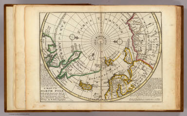 A map of the North Pole with all the territories that lye near it, known to us &c. According to the latest discoveries, and most exact observations. Agreeable to modern history. By H. Moll Geographer. Printed for Tho: Bowles next ye Chapter House in St. Pauls Church Yard, & John Bowles at the Black Horse in Cornhill, London (1736?)
