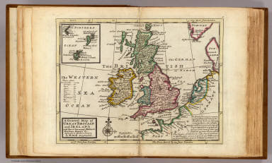 A general map of Great Britain and Ireland, with part of Germany, Holland, Flanders, France &c. Agreeable to modern history. By H. Moll Geographer. (with Farro, Schetland and Orkney islands). (Printed for Tho: Bowles next ye Chapter House in St. Pauls Church Yard, & John Bowles at the Black Horse in Cornhill, London 1736?)