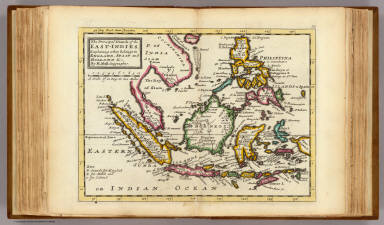 The prinicipal islands of the East-Indies. Explaining what belongs to England, Spain and Holland &c. By H. Moll Geographer. (Printed and sold by T. Bowles next ye Chapter House in St. Pauls Church yard, & I. Bowles at ye Black Horse in Cornhill, 1736?)