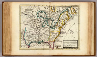 New Map Of Ye North Parts Of America Moll Herman D 1732 1736