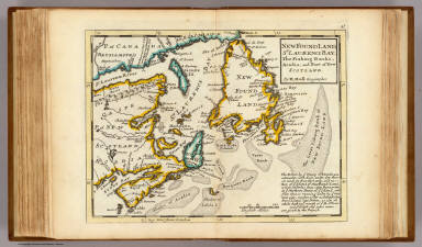New Found Land, St. Laurence Bay, Acadia, New Scotland. / Moll, Herman, d. 1732 / 1736