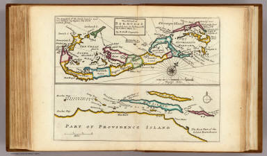 The island of Bermudos. Divided into its tribes with the castles, forts &c. by H. Moll Geographer. Part of Providence Island. (Printed and sold by Tho: Bowles next ye Chapter House in St. Pauls Church Yard, & Ino: Bowles at ye Black Horse in Cornhill, 1736?)