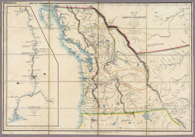 Map Of The Oregon Territory  United States Exploring