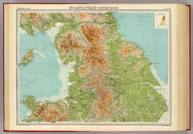 """England & Wales - northern section. The Edinburgh Geographical Institute, John Bartholomew & Co. """"The Times"""" atlas. (London: The Times, 1922)"""