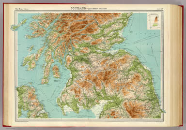 Scotland - southern section. / Bartholomew, J. G. (John George), 1860-1920  ; John Bartholomew & Co. / 1922