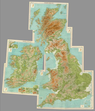 """(Composite of) Section maps of the British Isles on a scale of 1:633,600. The Edinburgh Geographical Institute, John Bartholomew & Co. """"The Times"""" atlas. (London: The Times, 1922)"""