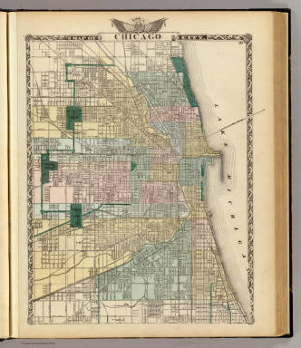 Map of Chicago City. / Warner & Beers ; Union Atlas Co. / 1876