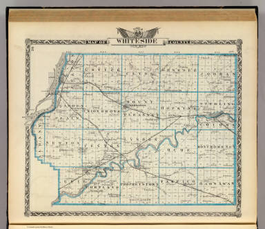 Map of Whiteside County. (Union Atlas Co., Warner & Beers, Proprietors. Lakeside Building Cor: of Clark & Adams Sts. Chicago. 1876. Entered ... 1876 by Warner & Beers ... Washington D.C.)