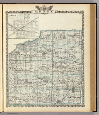 Map of Henry County. (with) Galva. (Union Atlas Co., Warner & Beers, Proprietors. Lakeside Building Cor: of Clark & Adams Sts. Chicago. 1876. Entered ... 1876 by Warner & Beers ... Washington D.C.)