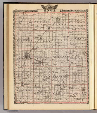 Map of Knox County. / Warner & Beers ; Union Atlas Co. / 1876