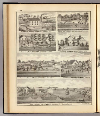 Residences, farms and factory, Vandalia, Sandoval, Hennepin & Putnam Co., Ill. / Warner & Beers ; Union Atlas Co. / 1876