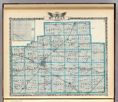 Map of McLean County and Le Roy. / Warner & Beers ; Union Atlas Co. / 1876