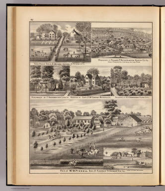 Residences and farms in Edgar, Hardin, Massac, Pulaski & Putnam counties, Ill. / Warner & Beers ; Union Atlas Co. / 1876