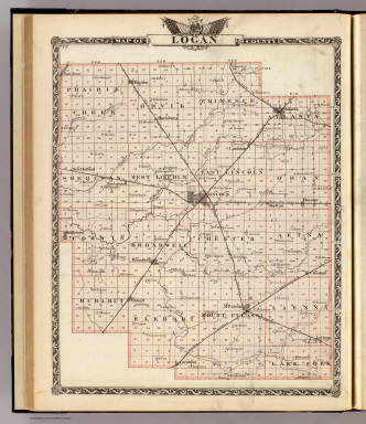 Map of Logan County. / Warner & Beers ; Union Atlas Co. / 1876