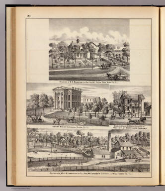 Residences and buildings in Poplar Grove, Harrisburg and Cartersville, Ill. / Warner & Beers ; Union Atlas Co. / 1876