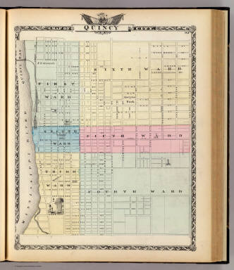 Map of Quincy City. / Warner & Beers ; Union Atlas Co. / 1876