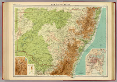"""New South Wales. (with Commonwealth Territory). (with Sydney Region). The Edinburgh Geographical Institute, John Bartholomew & Co. """"The Times"""" atlas. (London: The Times, 1922)"""