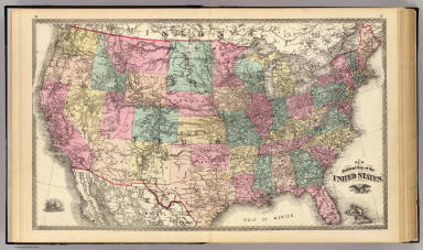 New rail road map of the United States. / Snyder, Van Vechten & Co. / 1878