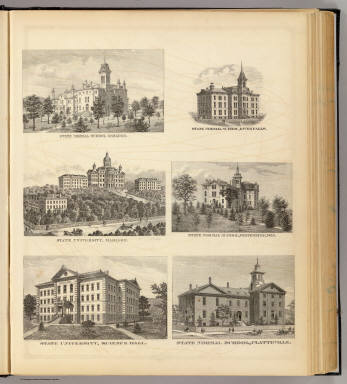 State normal schools and State University, Oshkosh, River Falls, Madison, etc. / Snyder, Van Vechten & Co. / 1878
