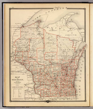 Map of Wisconsin, showing assembly districts. / Snyder, Van Vechten & Co. / 1878