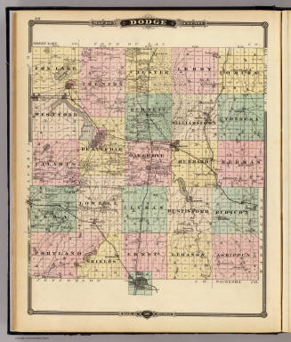 Map of Dodge County, State of Wisconsin. / Snyder, Van Vechten & Co. / 1878