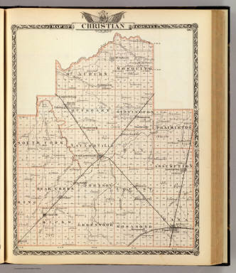 Map of Christian County. / Warner & Beers ; Union Atlas Co. / 1876
