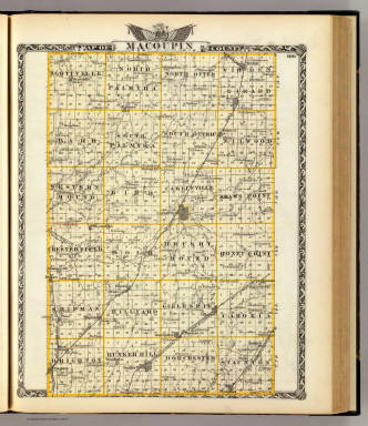 Map of Macoupin County. / Warner & Beers ; Union Atlas Co. / 1876