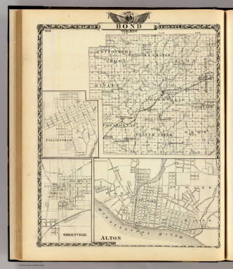 Map of Bond County, Alton, Collinsville and Greenville. / Warner & Beers ; Union Atlas Co. / 1876