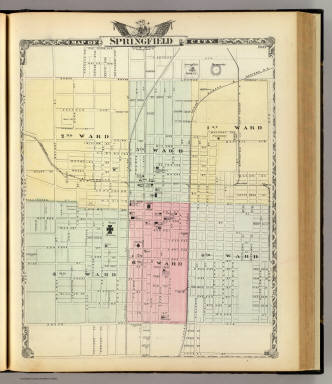 Map Of Springfield City  Warner Amp Beers  Union Atlas Co