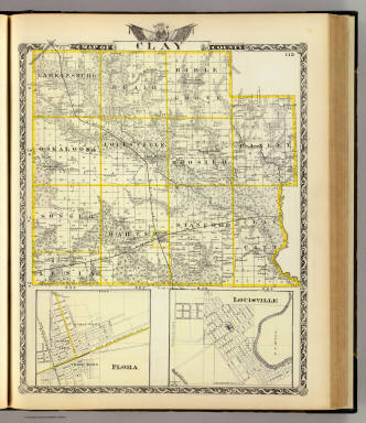 Map of Clay County, Flora and Louisville. / Warner & Beers ; Union Atlas Co. / 1876