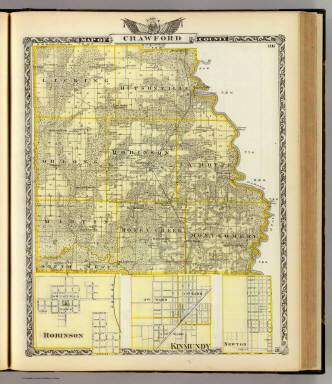 Map of Crawford County, Robinson, Kinmundy and Newton. / Warner & Beers ; Union Atlas Co. / 1876