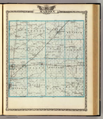 Map of Marion County. / Warner & Beers ; Union Atlas Co. / 1876