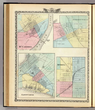 East St. Louis, Mt. Carmel, Jerseyville and Mendota. / Warner & Beers ; Union Atlas Co. / 1876