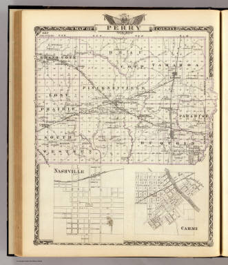 Map of Perry County, Nashville and Carmi. / Warner & Beers ; Union Atlas Co. / 1876