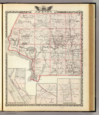 Jackson County Colorado Map.Map Of Jackson County Grand Tower Anna And Carbondale Warner