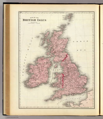 Map of the British Isles. (Union Atlas Co., Warner & Beers, Proprietors. Lakeside Building Cor: of Clark & Adams Sts. Chicago. 1876. Entered ... 1876 by Warner & Beers ... Washington D.C.)