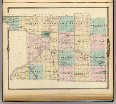 map of columbia county state of wisconsin snyder van vechten co 1878