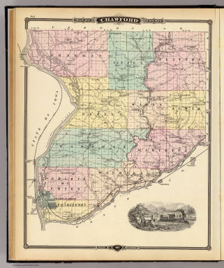 Full Size Van >> Map of Crawford County, State of Wisconsin. / Snyder, Van ...