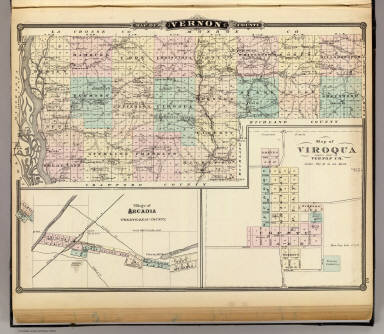 Map of Vernon County, Arcadia and Viroqua. / Snyder, Van Vechtenvernon county